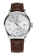 Carl von Zeyten CVZ0001SL Waldburg Automatik braun Leder Armband Uhr Herren NEU