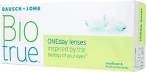 Kontaktlinsen Biotrue ONEday  Bausch & Lomb 30 Stück Tageslinsen alle Stärken