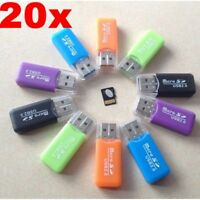 20X Lots High Speed Mini USB2.0 Micro SD TF Memory Card Reader Adapter Universal