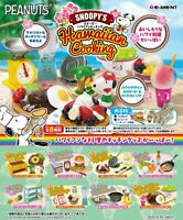 Re-ment PEANUT SNOOPY HAWAIIAN COOKING Completed Set for dollhouse
