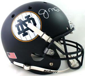 Joe Montana Autographed Notre Dame Alt Navy Schutt F/S Helmet- JSA W Auth *White