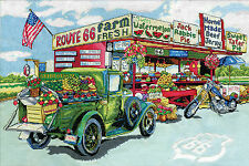 Cross Stitch Kit ~ Design Works Route 66 Old Fashioned Historic Road #DW2938