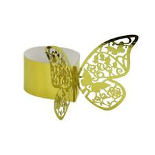 50Pcs Golden Butterfly Tissue Ring Restaurant Canteen Party Wedding Supply
