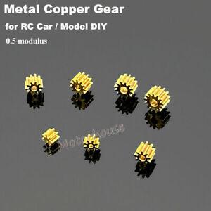Brass Metal Copper Gear 7/8/9/10/11/12/16 Teeth Toy Car Motor Transmission Gear