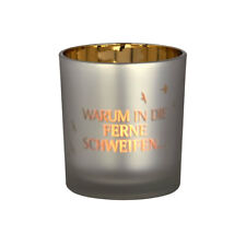 """Räder Design Teelichthalter  Poesielicht """"WARUM IN DIE FERNE glanzlicht 13158"""