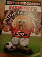 Son in law Happy Birthday greetings card - Barnsley fan