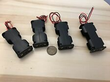 4 Pieces - AA two Battery Storage Holder Case Box 2 Battery Wired plastic C31