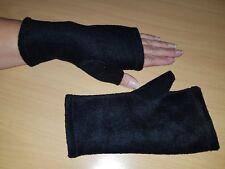 Fleece-Armstulpen -Pulswärmer mit Daumen schwarz  by Zonel Mode