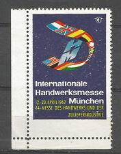 Germany/Munich 1962 International Craft Fair poster stamp/label