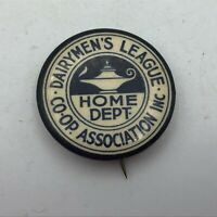Vintage Dairymen's League Co-Op Button Pin Pinback Hodges Badge USA Rare H2