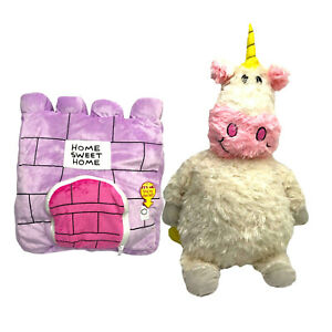 "24"" Funny Stuffed Flip Plush Fantasy Animal Unicorn Soft Doll to Castle Pillow"