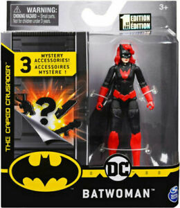 "2020 DC  BATWOMAN 4"" FIGURE SPIN MASTER BATMAN CAPED CRUSADER 1ST EDITION NEW"
