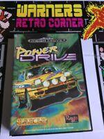 Sega Megadrive Genesis Retro gaming Game Power Drive  Gp W/ Manual Boxed
