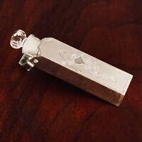 - WELLS STERLING SILVER / GLASS POP-UP PERFUME BOTTLE: WEDDING BELLS NO MONOGRAM