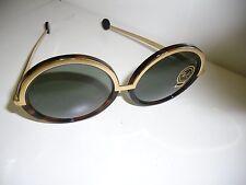 Runde Damen-Sonnenbrillen aus Metall & Kunststoff mit 100% UV 400 Verspiegelte