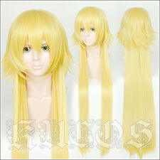 FGO Fate Apocrypha Joan of Arc Jeanne d'Arc Cosplay Perücke wig Blond 100cm Len