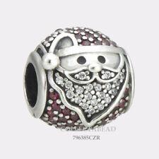 Authentic Pandora Silver Sparkling Jolly Santa CZ Bead 796385CZR *WINTER 2017