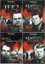 JFK KENNEDY DETAIL ASSASSINATION DISCOVERY DOCUMENTARIES COLLECTION NEW 4 DVD R4