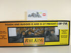 Rail+King+Caterpillar+Flatcar+with+Motor+Grader+%2330-7673+NIB+OH-139