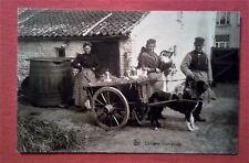 CPA Laitières flamandes/ Charrette à chien