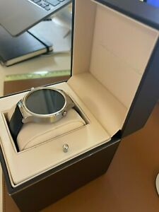 Huawei Smartwatch 42mm Stainless Steel - Silver- Black Suture Leather Strap