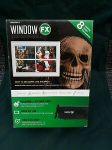 NEW Window FX Holiday Video Projector Decorating Kit Halloween Christmas Party