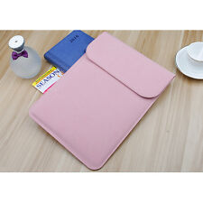 """For Apple Macbook Pro Air 11.6/12""""/13.3""""/15.4"""" Leather Sleeve Case Laptop Cover"""