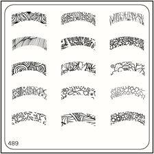 Moyou Nail Moda Stamping Nail Art imagen Placa 489 Estilo Casual Naturaleza