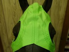 Custom Horse Racing Blinkers, Lycra NEON LIME GREEN Choose size, closures & cups