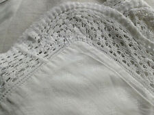 Antique/Vintage French sham crochet small scale cotton fabric print dolls