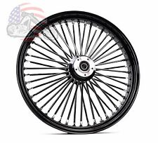 Ultima 48 King Spoke Fat 26 3.5 Front Wheel Rim Harley Touring Dual Disk Black .