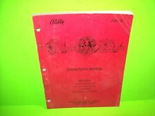 Bally Black Rose Original 1992 Pinball Machine Service Repair Parts Manual