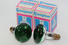 2 x Crompton R80 Green 75W BC Reflector Spotlight Disco Lamp Bulb - 240V