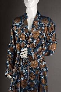 Golden // Silver // Blue Floral Gown - Victorian Style - Old Fashion