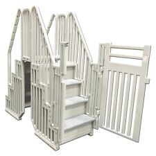 """Confer Pool Step COMPLETE Entry System w/ Locking Gate Enclosure NEW """"FAST SHIP"""""""
