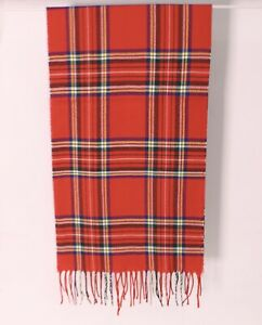 Super Soft Scarf Cosy Warm Tartan Check Fleece Scarves with Tassels 2 Colours