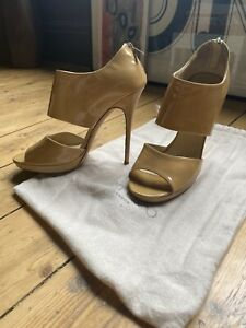 Patent Nude Leather Heels Jimmy Choo 39 UK 6