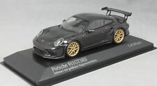 Minichamps Porsche 911 991 GT3RS in Black with Gold Wheels 413067034 1/43 Ltd300