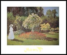 Claude Monet Dame Garten Sainte-Adresse Poster Kunstdruck mit Alu Rahmen 24x30cm