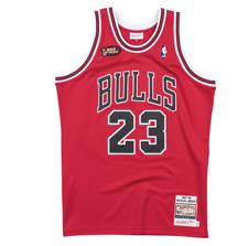 Аутентичные профессионально Джерси Чикаго Буллз дорога финал 1997-98 Майкл Джордан красный Xxl