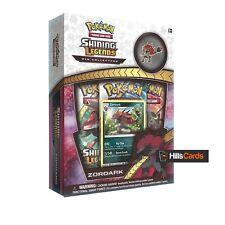 Pokemon: Zoroark Shining Legends Pin Collection Box Inc Booster Packs Promo Card