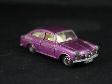 Vintage Lensney Matchbox #67 Superfast Volkswagen VW 1600 TL Rare Purple Color!