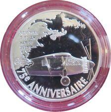 391 - 1€1/2 - 2002: 1er Vol au dessus de l'Atlantique - argent 900‰