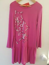 Elle Girls Drop Waisted Fuschsia Pink Dress Age 6yrs, New with Tags