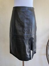 PRIVILEGE Paris Glove Soft Black Leather Lined Skirt Lace Made In France 40 NWOT