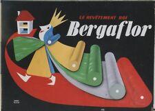 """""""BERGAFLOR"""" Maquette gouache+collage originale vers 1950 André ROLAND 154x114cm"""