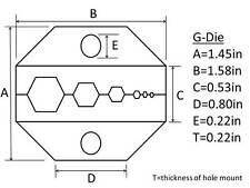 Lands Dl801G Coax Coaxial Cable Crimp Crimper Crimping Termination Ratchet Tool