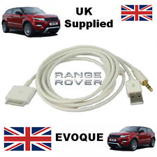 Range Rover, Evoque, iPhone, iPod 30 pin Audio Cable in White