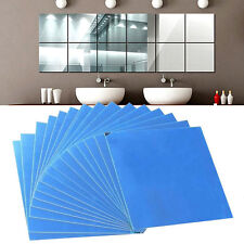 16X/Set Tiles Mirror Removable Self-adhesive Decal Mural Sticker DIY Wall Decor