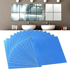 16Pcs Spiegel Mosaik Fliesen Selbstklebende Wand Aufkleber Dekoration DIY